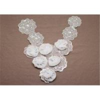 Buy cheap Eco Friendly White Handmade Embroidery Corsage Flower Collar Necklines from wholesalers