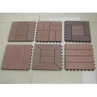 Buy cheap 30*30cm Outdoor Deck Flooring For Swimming Pool , Anti - Slip Redwood Interlocking Deck Tile from wholesalers