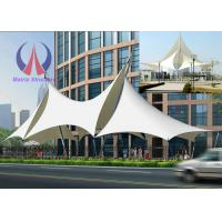 Buy cheap Multi Ridge Fabric Cable Metal Shade Structures , Outdoor Patio Sun Shade Sail Canopy from wholesalers