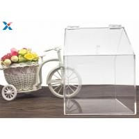 Buy cheap House Shape Clear Acrylic Gift Boxes Candy Container Non Toxicity For Retail Store product