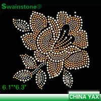 Buy cheap jx820 2015 New fashion rose hot fix rhinesetone motif;china hot fix rose rhinestone motif;hot fix rose motif rhinestone from wholesalers