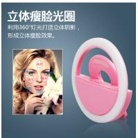 Buy cheap Fashion 3 Mode Adjustable Brief Pink/White/Black Selfie LED Ring Flash Fill Light Phone Camera For iPhone Android Phones from wholesalers