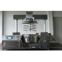 Buy cheap Double Column 2000L PLC control Automatic Vacuum Emulsifying Cosmetics Machine from wholesalers