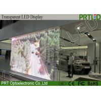 China Shop Mall Advertising Transparent Video Glass Screen LED P3.91 Hight Resolution on sale