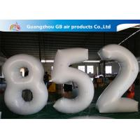 Buy cheap European Standard White PVC Inflatable Advertising Number Display Figure Balloon from wholesalers