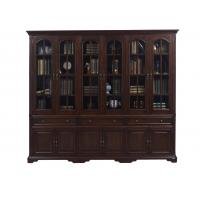 Buy cheap Home Office Study room furniture American style Big Bookcase Cabinet with Display chest can L shape for corner wall case from wholesalers