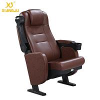 Buy cheap Great Lumbar Support Comfort Head Cushion Movie Theatre Chairs With Cupholder from wholesalers