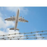 Buy cheap Silver High Security Barbed Wire Airport Fence With Razor Wire Double Barb from wholesalers