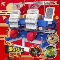 China 400*500mm 15 needles embroidery machine 2 heads HO1502H newest 2020 type computer t-shirt flat sequin 3d cap embroidery on sale