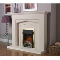 Buy cheap natural stone white marble fireplace from wholesalers