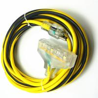 Buy cheap SJTW 12 Gauge Lighted Extension Cord Plug 15A With Continuous Ground Monitoring from wholesalers