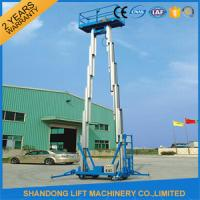 Buy cheap 12m Hydraulic 2 Post Aluminum Alloy Man Lift Rental For Aerial Wok Platform from wholesalers
