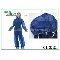 Buy cheap Disposable Non woven long sleeve coveralls With Elastic Wrists and Ankles , Size custom from wholesalers