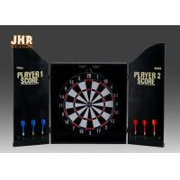 Buy cheap MDF Wall Hanging Dart Board Antique Wood Dart Cabinet Set Decorative Wooden Dart Box from wholesalers