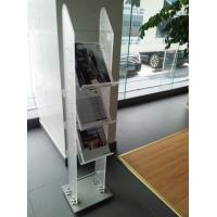 Buy cheap 3 Tiers Frosted Acrylic Magazine Display Stand  / Plastic Pop Display from wholesalers