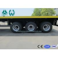 Buy cheap 3 Axles 20 Ft / 40 Ft Container Flatbed Trailer For Cargo Transport from wholesalers
