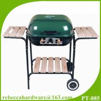 Buy cheap Easy move steel 18 hamburger style charcoal BBQ grill with two wheels from wholesalers