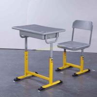 Buy cheap Adjustable Metal Middle School Student Table And Chair With Iron / Aluminum Frame from wholesalers