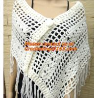 Buy cheap Crochet Scarf Women Pashmina Fur Designer Wrap Scarf Handmade Crocheted Multiwearing from wholesalers