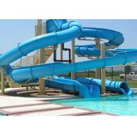 Buy cheap Indoor / Outdoor Fiberglass Long Spiral Water Slides For Kids / Family Holiday Resort from wholesalers