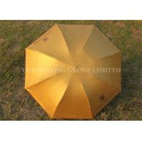 Buy cheap Solid Color Gold Totes Windproof Folding Umbrella For Ladies 21