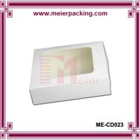 Buy cheap Custom white paper box with clear window ME-CD023 from wholesalers