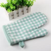 Buy cheap Checker Pattern Kitchen Oven Mitts , 18X28cm Heat Resistant Kitchen Gloves product