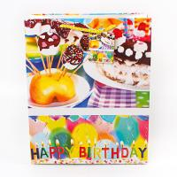 Buy cheap Custom paper shopping bags logo coated birthday present paper bag from wholesalers