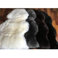 Buy cheap Long Wool Cream Fur Throw Blanket , Single Pelt Black And White Throw Blanket 60 X 90cm from wholesalers