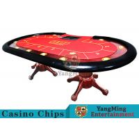 Buy cheap Tiger Legs Poker Game TableWith European Style Groove Design In Mesa Runway from wholesalers