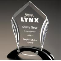 Buy cheap LOGO Laser Acrylic Award Trophy Transparent With Good Light Transmission from wholesalers