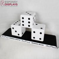 Buy cheap Counter Table Fashion Design Wood Dice Display Rack Special Decoration from wholesalers