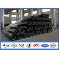 Buy cheap Hot Dip Galvanized Power Transmission Pole 2 Segments Section Slip Joint Connection from wholesalers