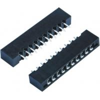 Buy cheap Round Female Pin Headers 1.27MM Pitch Connector DIP 180 Degree For PCB Insert Plate product