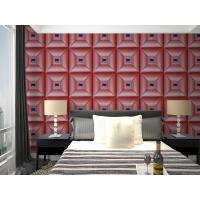 Parlour Decorative Leather Textured 3D Wall Panel Embossed Indoor Wall Decals
