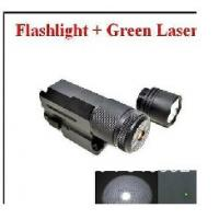 Buy cheap Tactical Hunting Pistol Rifle Green Dot Laser Scope Sight + Flashlight Head f 20mm Rail from wholesalers
