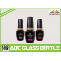 Buy cheap wholesale  new design fancy hot selling good quality lacquer black color nail gel polish glass bottle with cap and brush from wholesalers