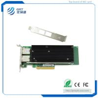 Buy cheap F1002T PCIe 10G  2-Port RJ45 Intel X540 Fibre Optic NIC Network Card for Server Switch from wholesalers