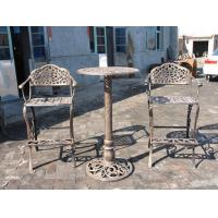 Buy cheap Unique Metal Wrought Iron Cast Iron Garden Table And 2 Chairs Eco - Friendly from wholesalers