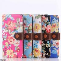 Buy cheap Floral Flower Pattern Printed Wallet Case Cover For Samsung Galaxy Note 4 N9100 from wholesalers