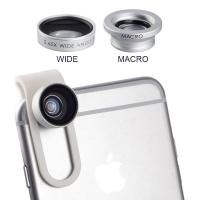 Buy cheap 0.65X Wide Angle lens + Macro lens Clip-on Universal Mobile Phone Camera Lenses For iPhone iPad Samsung Sony LG Xiaomi from wholesalers