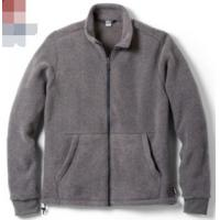 Buy cheap Windproof Mens Polar Fleece Jacket , Yarn Dyed Mens Fleece Lined Coat from wholesalers