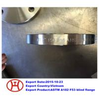 Buy cheap UNS S32750 2507 1.4410 ASTM A182 F53 blind flange from wholesalers
