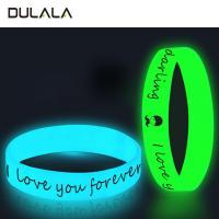 Buy cheap Custom luminous silicone wristbands & bracelets glow in dark from wholesalers