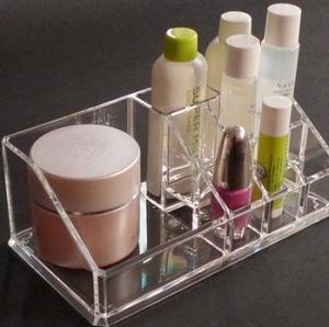 Buy cheap Crystal Acrylic Cosmetic Display Holder , Transparent Acrylic Makeup Display Holder product