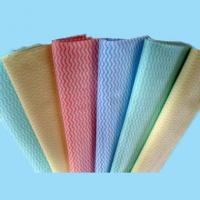 Buy cheap cross lapping spunlace nonwoven fabric for household/kitchen cleaning wipes from wholesalers