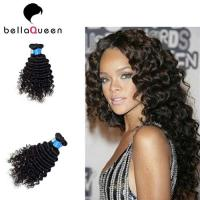 Buy cheap Smooth Deep Wave Malaysian Virgin Hair , Natural Black Human Hair Weave from wholesalers