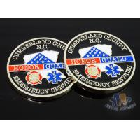 Buy cheap Craft Die Cast Brass Challenge Coin , Small 3D Challenge Coins With Epoxy from wholesalers