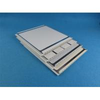 Buy cheap 55% - 80% UPVC Wall Panels , indoor use PVC Cover Board with Silver Edge from wholesalers