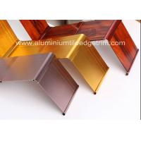 Buy cheap Gold Brushed Metal Skirting Trim , Aluminium Skirting Duct For Hotel And Office from wholesalers